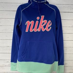 Nike Therma-Fit Blue & Green Pullover Hoodie